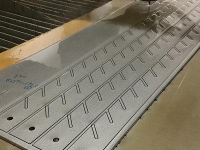 難削材 チタン TP340 ウォータージェット切断加工