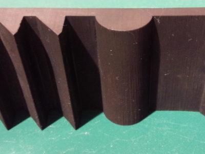クロロプレンゴムソリッド成型品断面試作加工