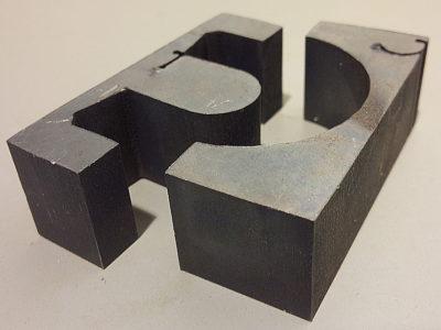 鉛ブロック任意形状ウォータージェット加工
