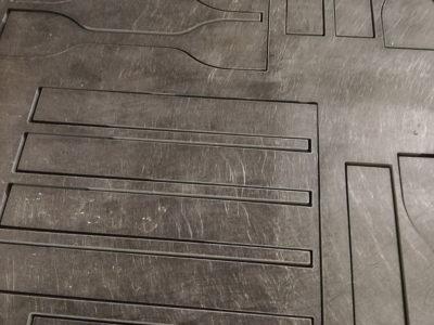 新素材特性評価用試験片製作 ウォータージェット切断加工