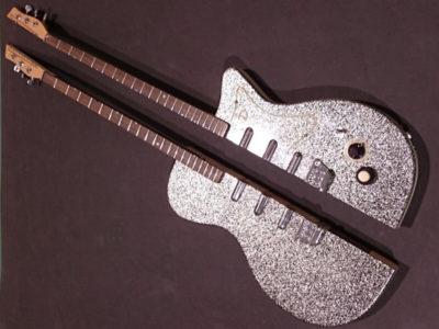 エレキギター半割りウォータージェット切断加工