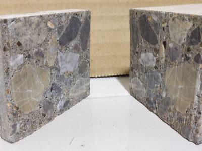 骨材入りコンクリートウォータージェット切断テスト