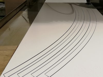 サイン看板フレーム切出しウォータージェット加工