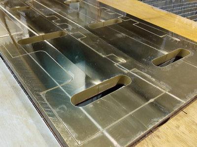 真鍮板C2801P機械部品ウォータージェット切断加工