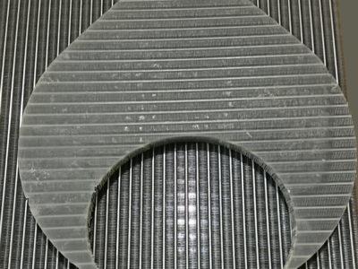 熱交換器意匠任意形状ウォータージェット切断