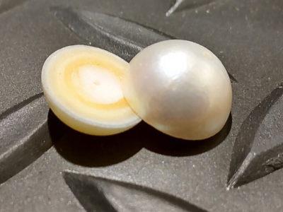 真珠(パール)ジュエリー ウォータージェット球体分割切断